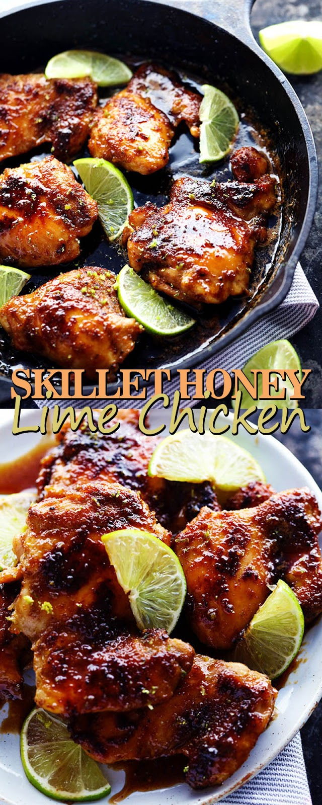SKILLET HONEY LIME CHICKEN