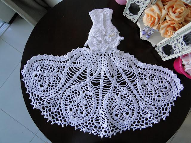 Vestido de noiva de crochê para Barbie, por Pecunia MillioM 34