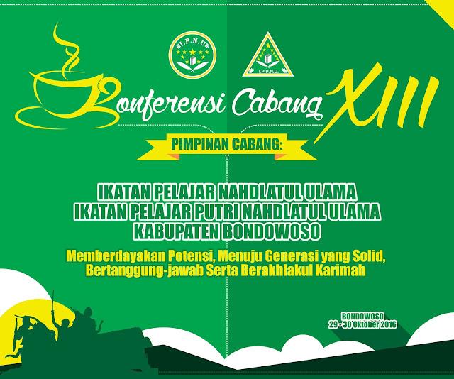 Desain Pentas I - Konferensi Cabang XIII IPNU & IPPNU Kabupaten Bondowoso