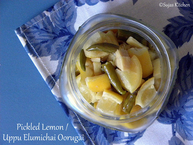 Easy Lemon Pickle / Uppu Elumichai Urugai,