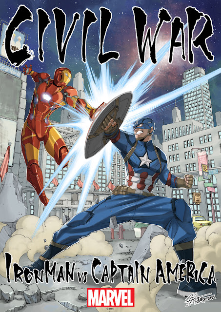 Kapitan Ameryka: Wojna bohaterów - plakat Hiro Mashima
