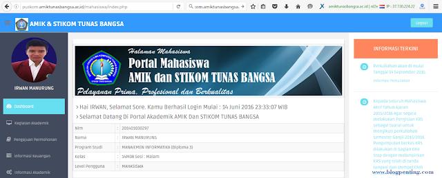 Portal akademik amik stikom tunas bangsa