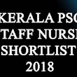 Kerala PSC Staff Nurse grade 2 short list 2018 - kerala psc questions