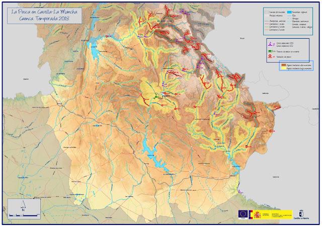 Mapa Provincia De Cuenca.Mapa De Pesca De La Provincia De Cuenca Hay Pesca