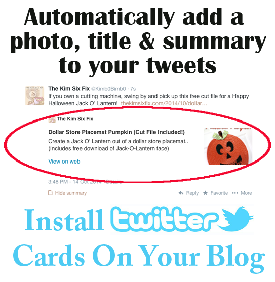 How to install Twitter Cards On Blogger Blog