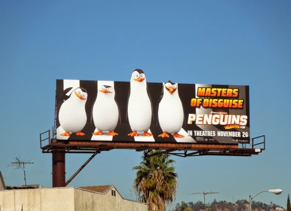 Penguins of Madagascar Masters of disguise billboard