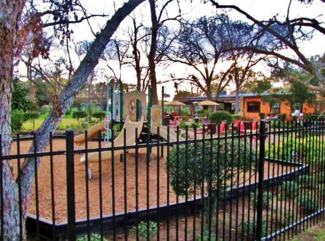 Playground In The Backyard Of Las Ventanas Mexican Restaurant