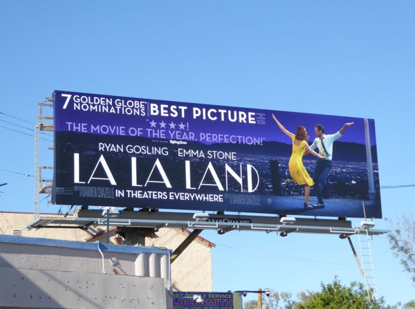 La la Land Golden Globes consideration billboard