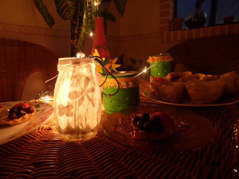 Decoración con material reciclado para una noche de verano