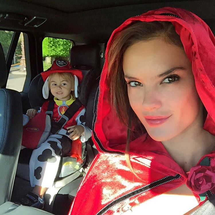 Alessandra Ambrosio Halloween Little Red Riding Hood