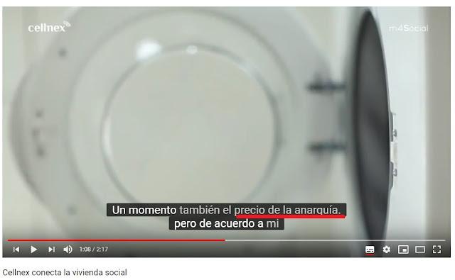 Video de Cellnex en YouTube con el texto el precio de la anarquia