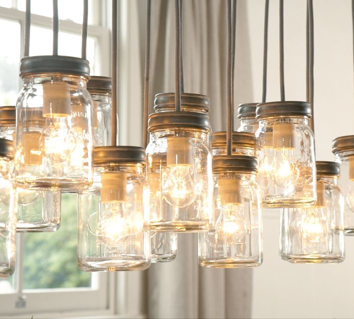 Pottery Barn Mason Jar Chandelier: The Terrier And Lobster