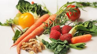 Carrots, Kale, Walnuts, Tomatoes