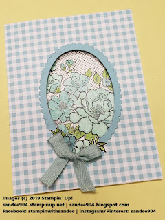 Handmade Card using Sale-A-Bration Stamp Set Lovely Lattice in Balmy Blue