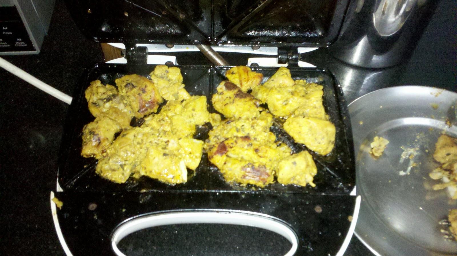 Ambrosia Grilled Chicken In My Sandwich Maker