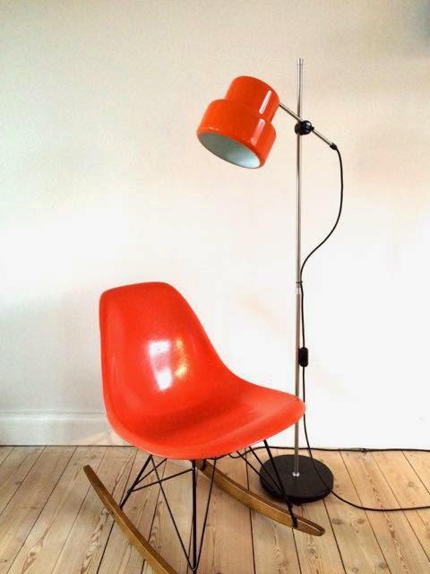 retro standerlampe Retro Furniture: Orange retro standerlampe retro standerlampe