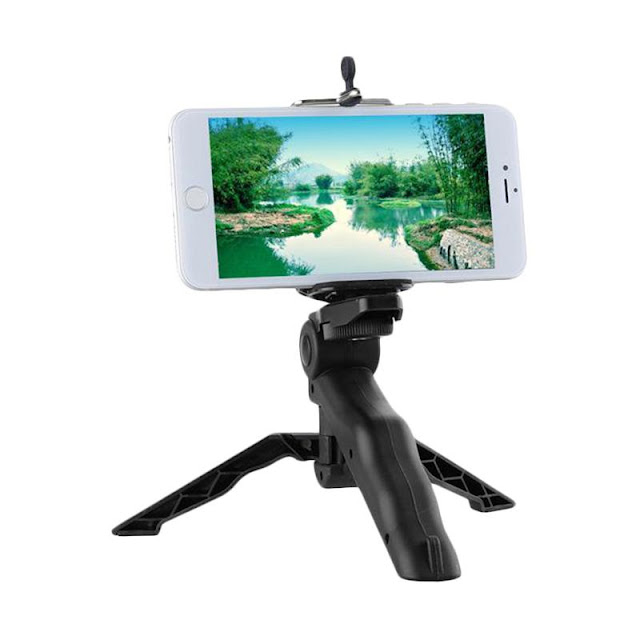 Universal Mini Tripod and Gimbal Stabilizer [2 in 1] + Free Gopro/Xiaomi Adapter + Holder U Smartphone