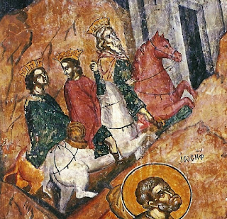 1183: ο ζωγράφος Θεόδωρος Αψευδής εικονογραφεί το κελί του Αγίου Νεοφύτου στην Πάφο της Κύπρου με  χαρακτηριστικές γραμμικές συνθέσεις.