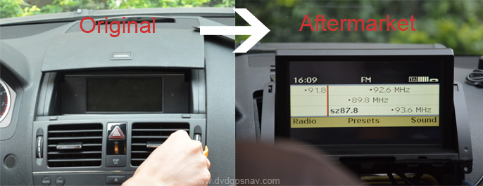 After market head unit with dvd player and navigation system: DIY