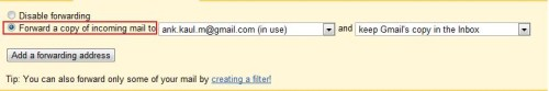 Auto Forward from Gmail to other email id