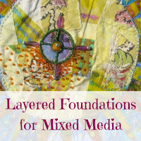 Layered Foundation with Fabric Scraps