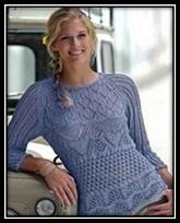 Vyazanie spicami dlya jenschin ajurnii pulover so shemoi i opisaniem vyazaniya