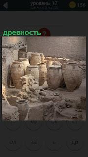 В подвале найдена древность в виде старинных бочек и горшков