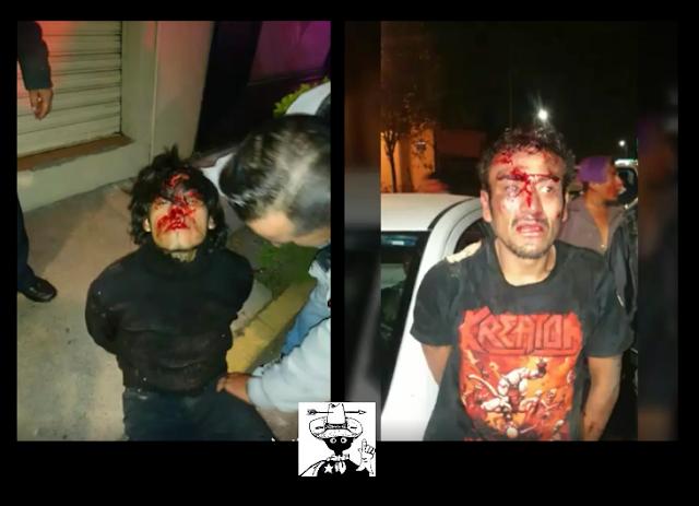 Taxistas rescatan a compañero y golpean a dos asaltantes