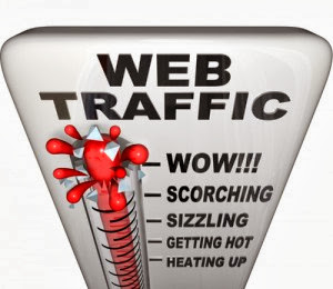 web traffic moving up