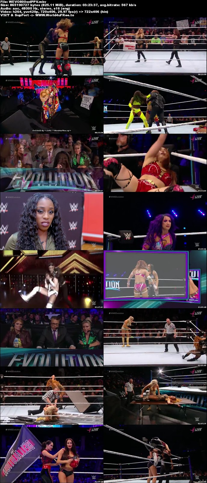 Wwe Evolution 2018 PPV WEBRip 480p 800MB x264 tv show Wwe Evolution 2018 PPV 800mb 720p compressed small size free download or watch online at world4ufree.vip