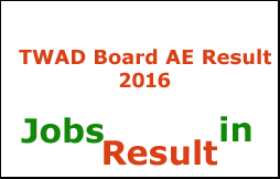 TWAD Board AE Result 2016