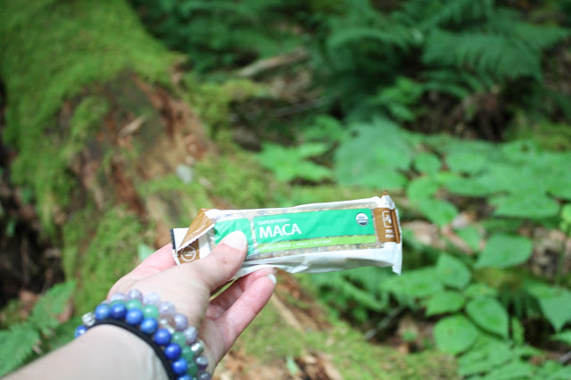 Navitas Naturals Bar on a hike