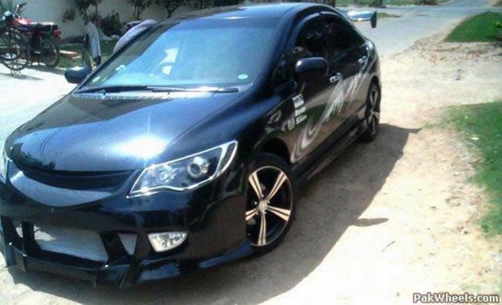 Most Reliable Cars: Modified Honda Civic Reborn 2010 Black