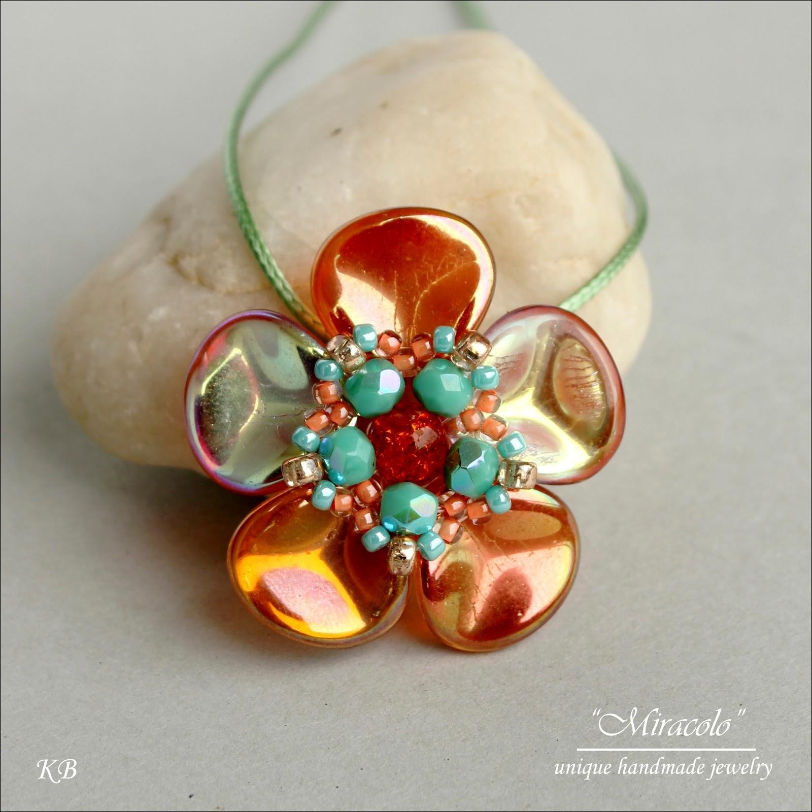 wisiorek z rose petals, rose petals pendant