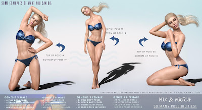 Z Summer Vibes - Poses with Partials for Genesis 3 and 8