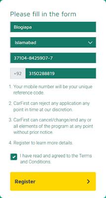 CarFirst-registration-form