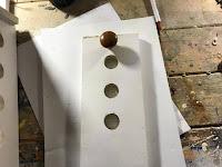 Door pull installed