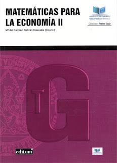 Matemáticas para la economía II / Mª del Carmen Beltrán Cascales