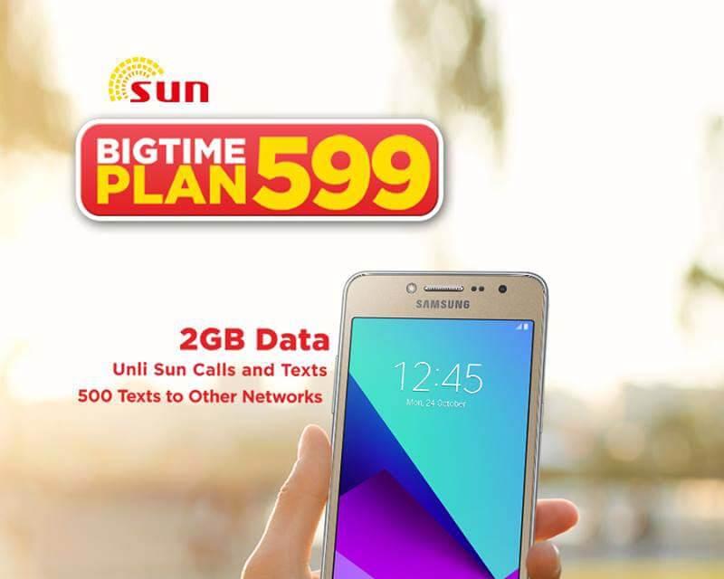 Sun Postpaid Plan 599 - free Samsung Galaxy J2 Prime, J5 and