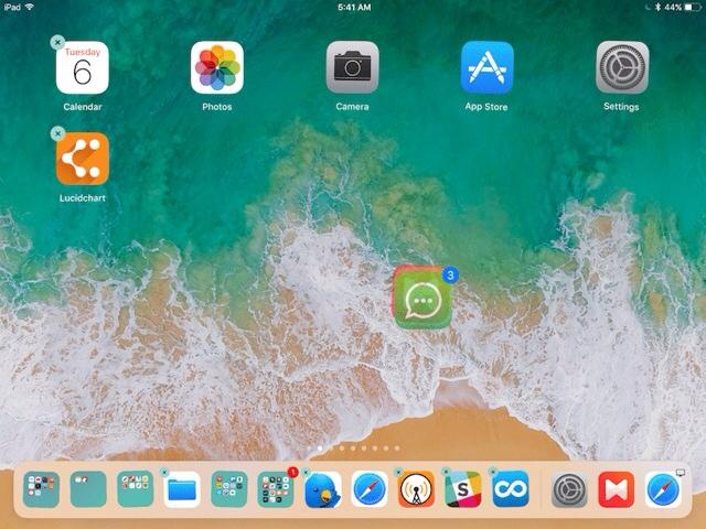 Pindahkan langsung beberapa aplikasi di ipad