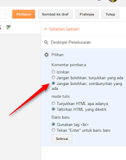 cara menghilangkan menu komentar di blog - blog