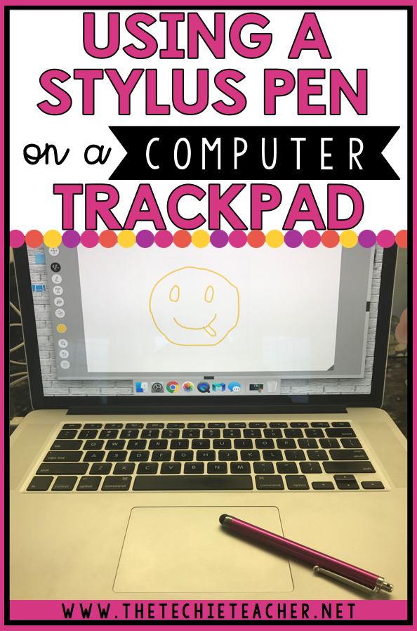 Using a Stylus Pen on a Computer Trackpad: Works on laptops AND Chromebooks!