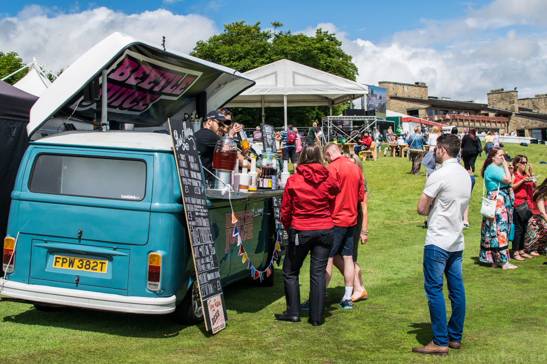 Food and drink stalls at The Celebrity Cup