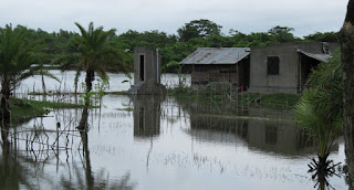 Floods in Bangladesh: Survival is at stake. (Image Credit: SuSanA Secretariat, via Wikimedia Commons) Click to Enlarge.