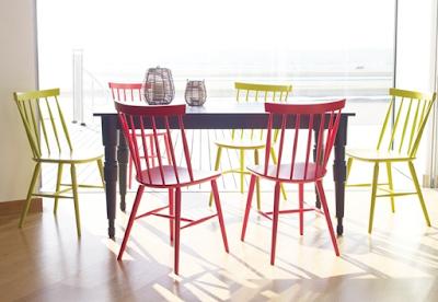 kursi cafe warna-warni