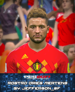 PES 2017 Faces Dries Mertens by FaceEditor Jefferson_SF