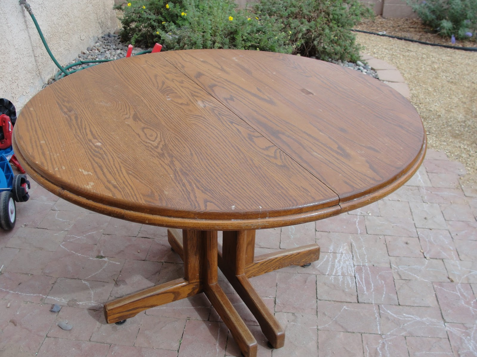 This Is My Friend Katie S Table It A Very Large Tiger Oak Has 3 Inserts So Huge She Wanted Refinished I Started
