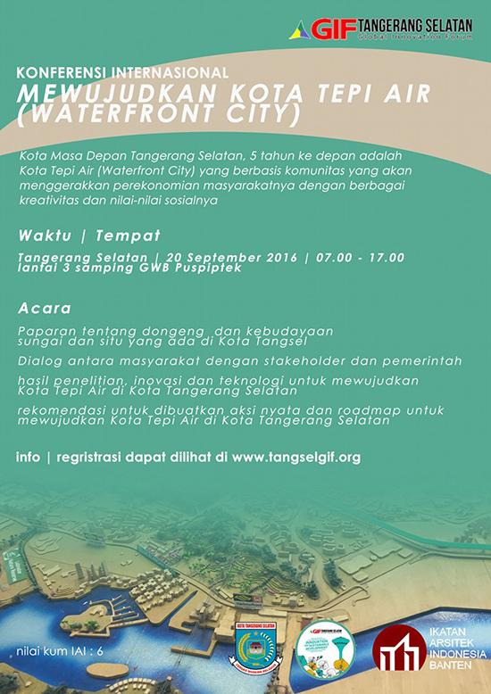 Mewujudkan Kota tepi air