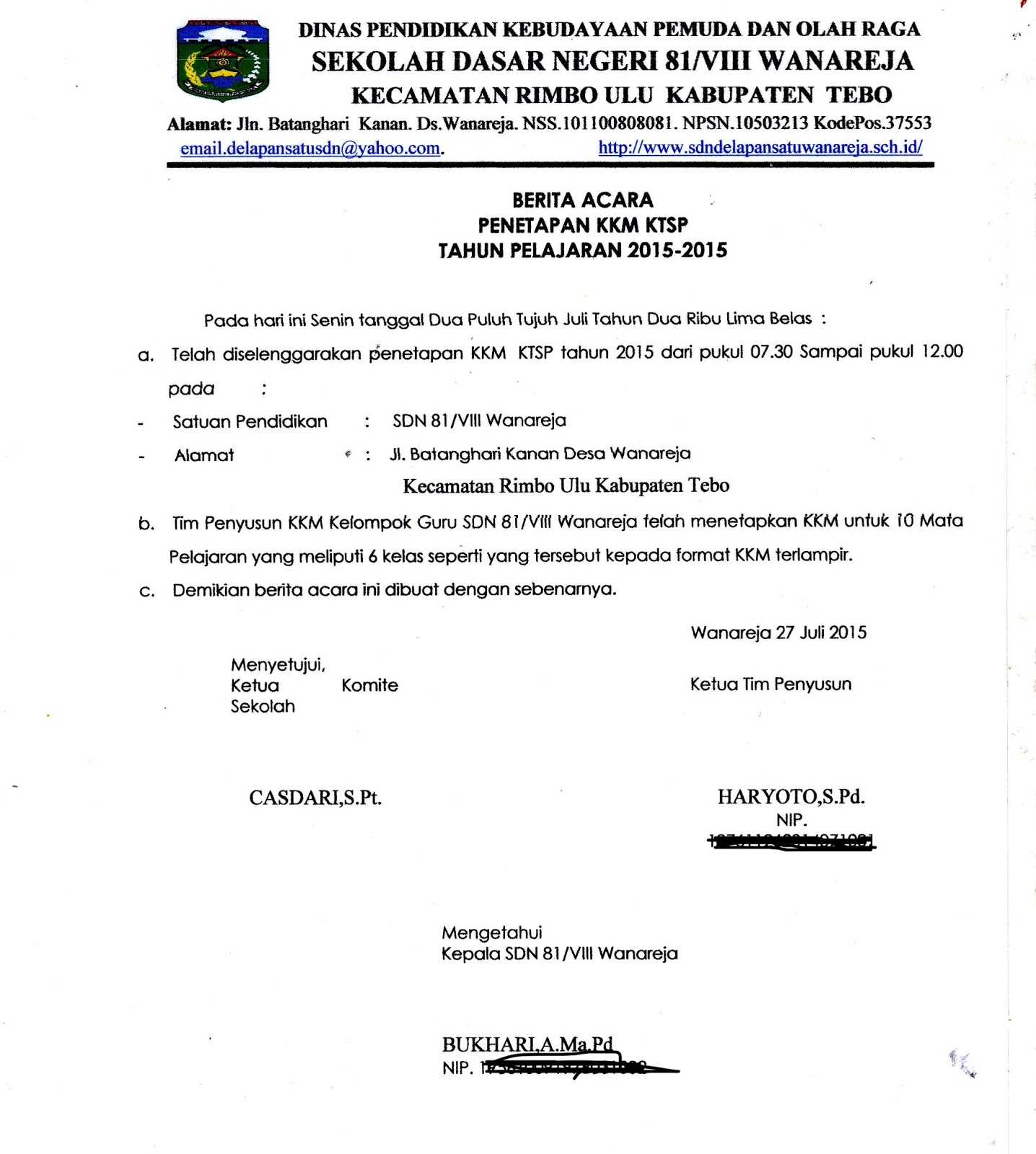Download Berita Acara Penetapan Kkm Dan Skl Terbaru Haryoto Berbagi