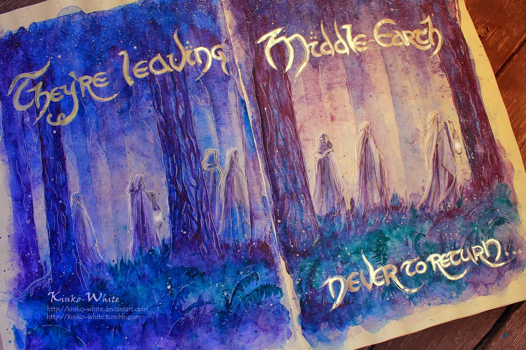 16-The-world-has-changed-Kinko-White-The-Hobbit-Watercolors-www-designstack-co